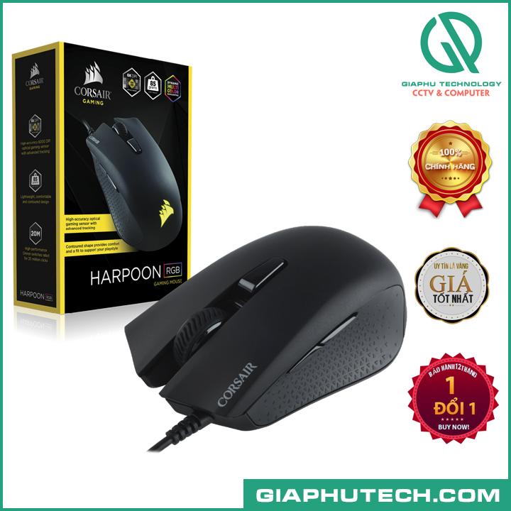 Chuột Corsair Harpoon RGB Black - Gaming (CH-9301011-AP)